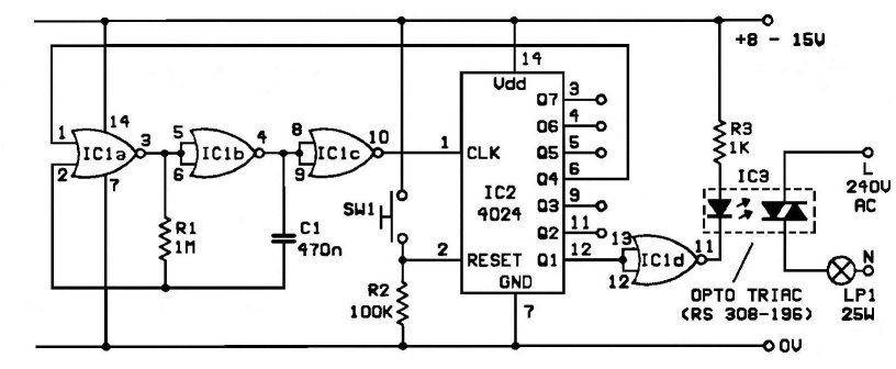 doorbell for the deaf doorbell circuit diagram